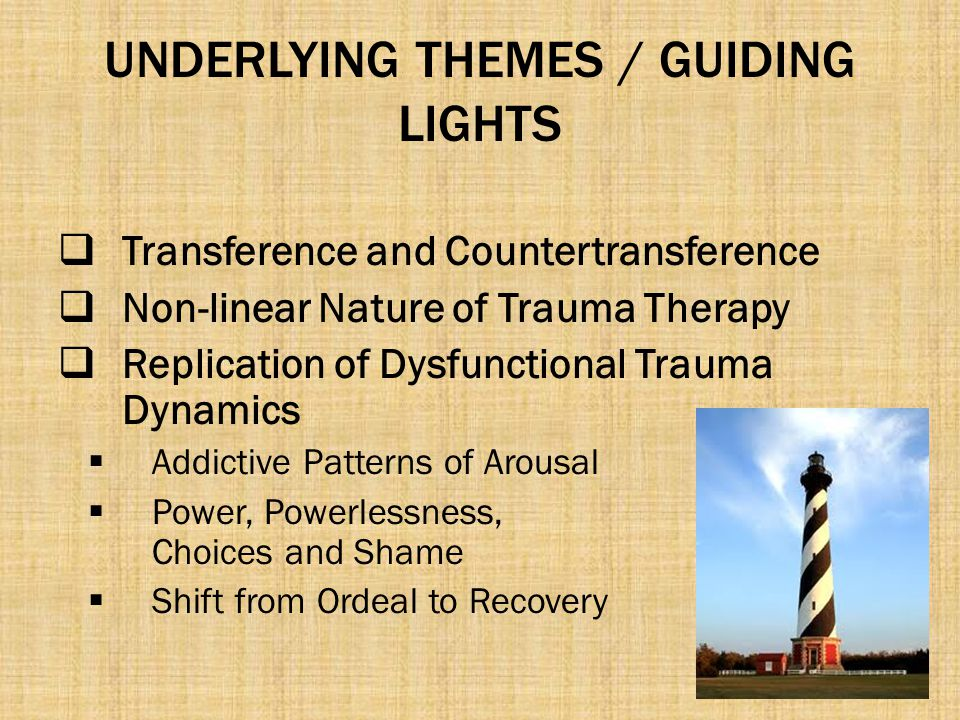 UNDERLYING THEMES / GUIDING LIGHTS