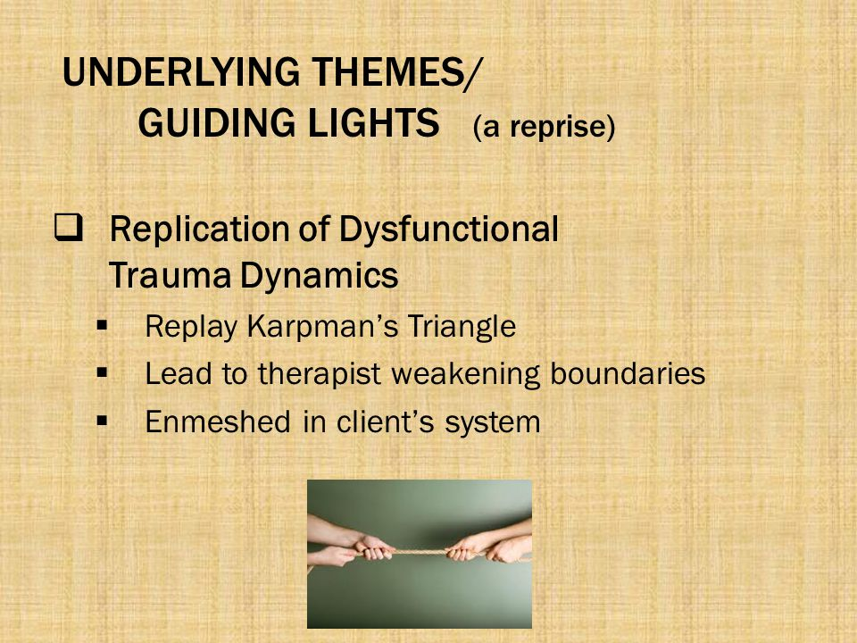 UNDERLYING THEMES/ GUIDING LIGHTS (a reprise)