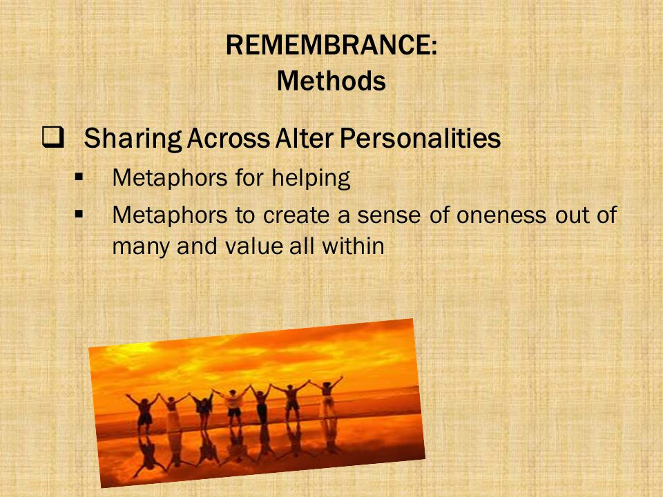 Sharing Across Alter Personalities