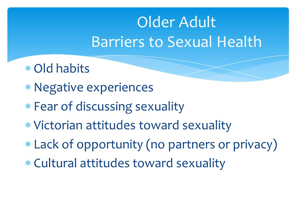 Older Adult Barriers to Sexual Health