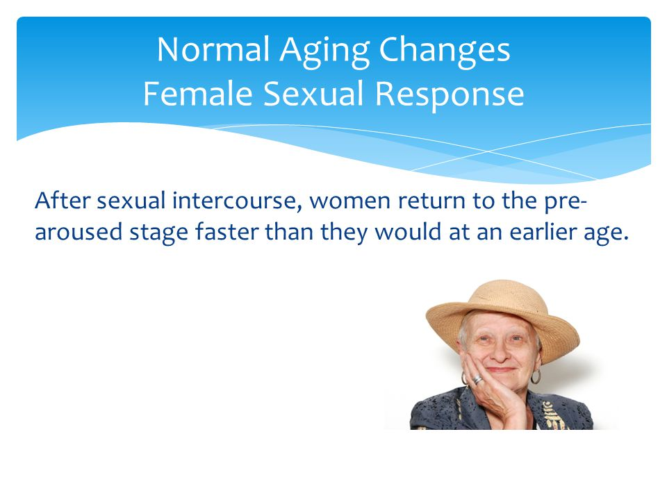 Normal Aging Changes Female Sexual Response