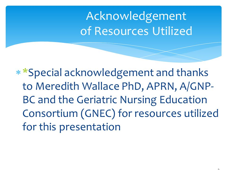 Acknowledgement of Resources Utilized
