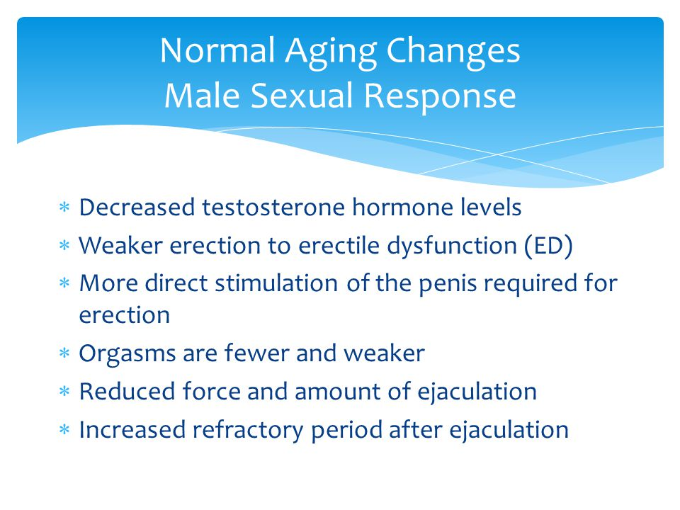 Normal Aging Changes Male Sexual Response