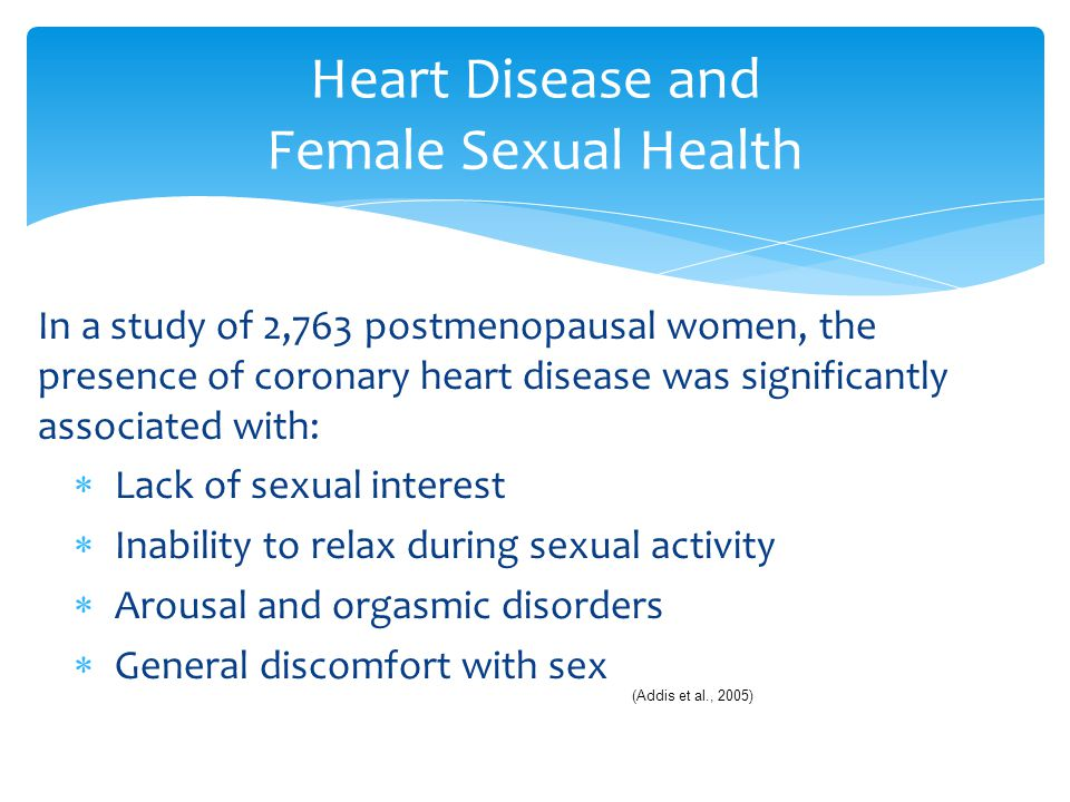 Heart Disease and Female Sexual Health