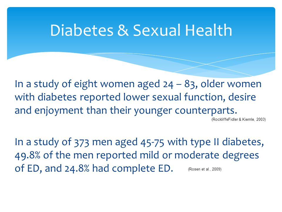 Diabetes & Sexual Health