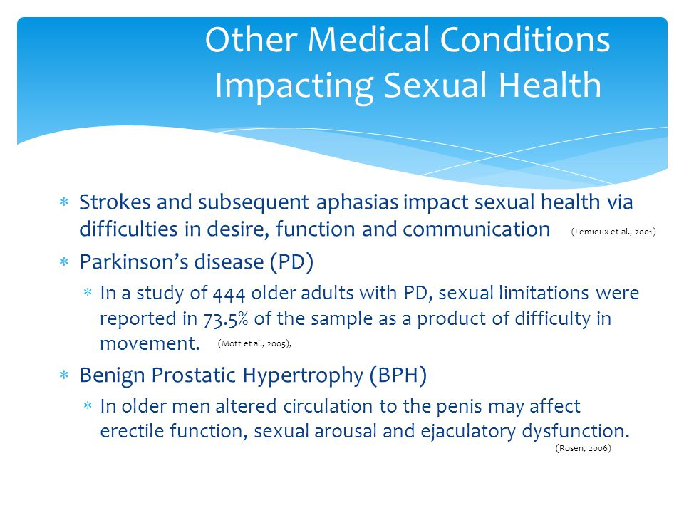 Other Medical Conditions Impacting Sexual Health