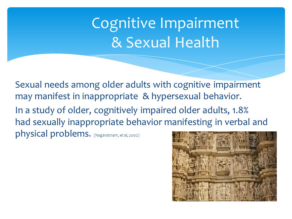Cognitive Impairment & Sexual Health
