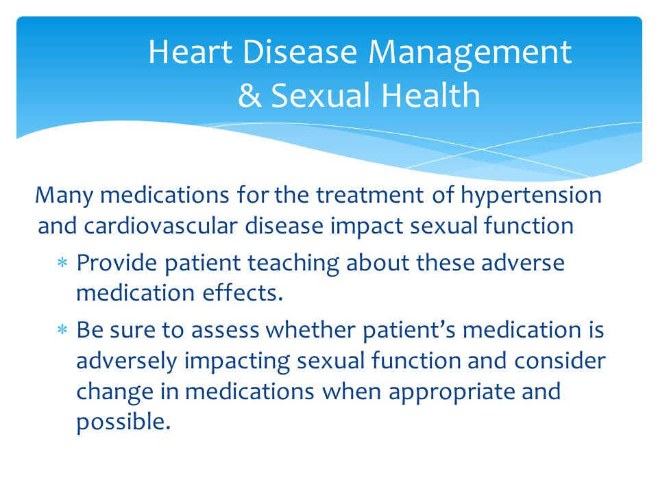 Heart Disease Management & Sexual Health