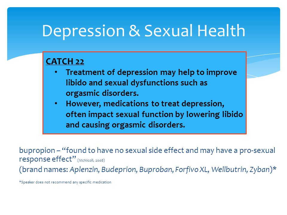 Depression & Sexual Health
