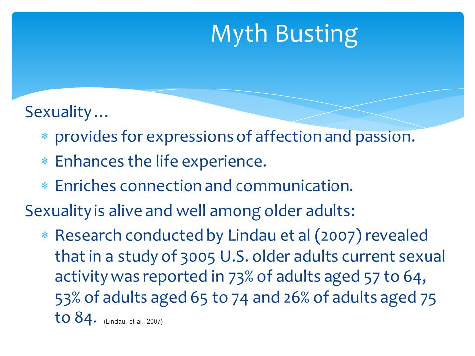 Myth Busting Sexuality …