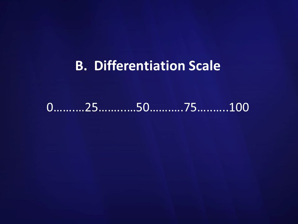 B. Differentiation Scale