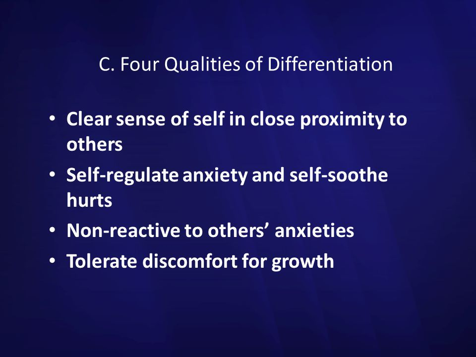 C. Four Qualities of Differentiation