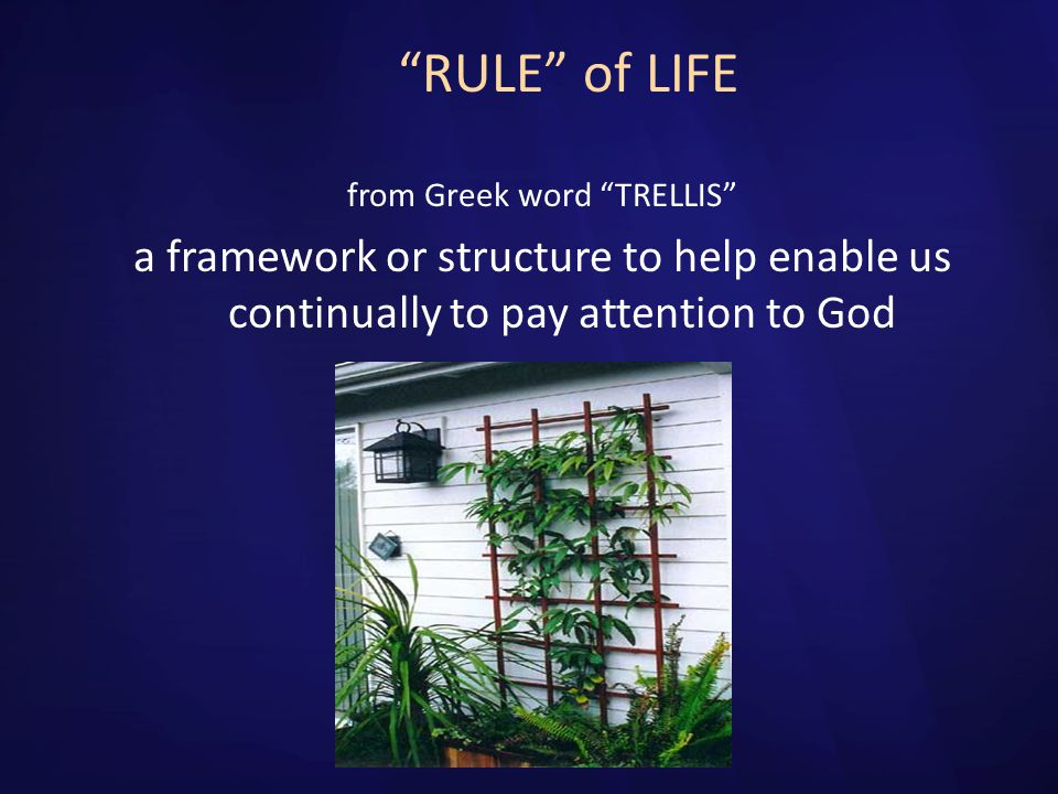 from Greek word TRELLIS