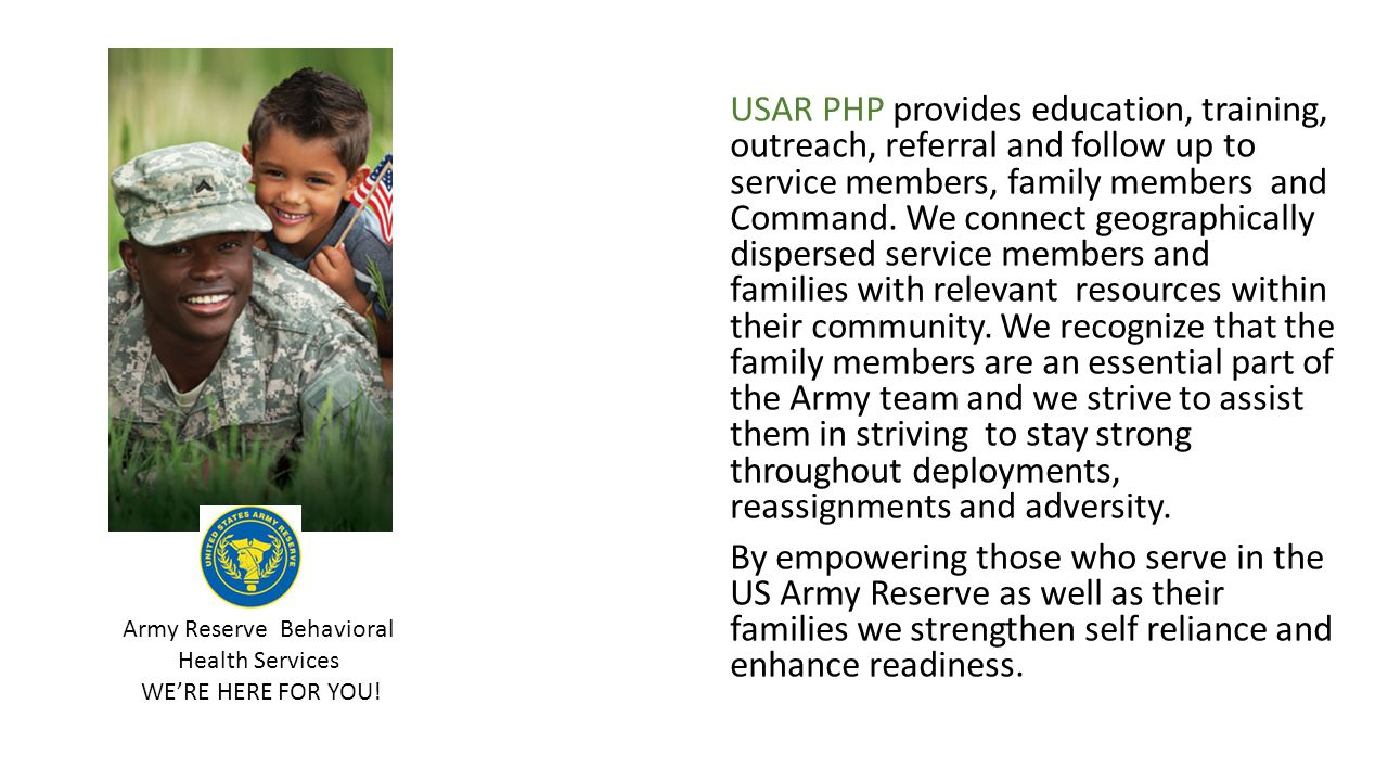 Army Reserve Behavioral Health Services
