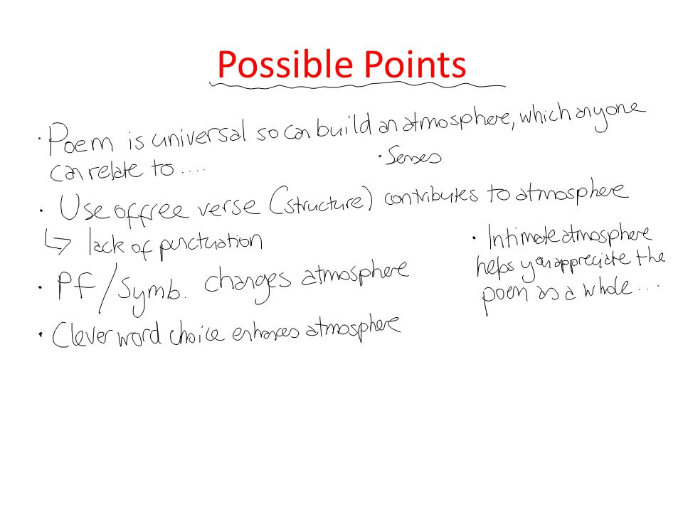 Possible Points