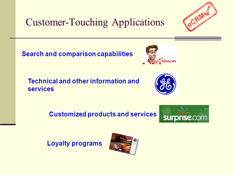 Customer-Touching Applications
