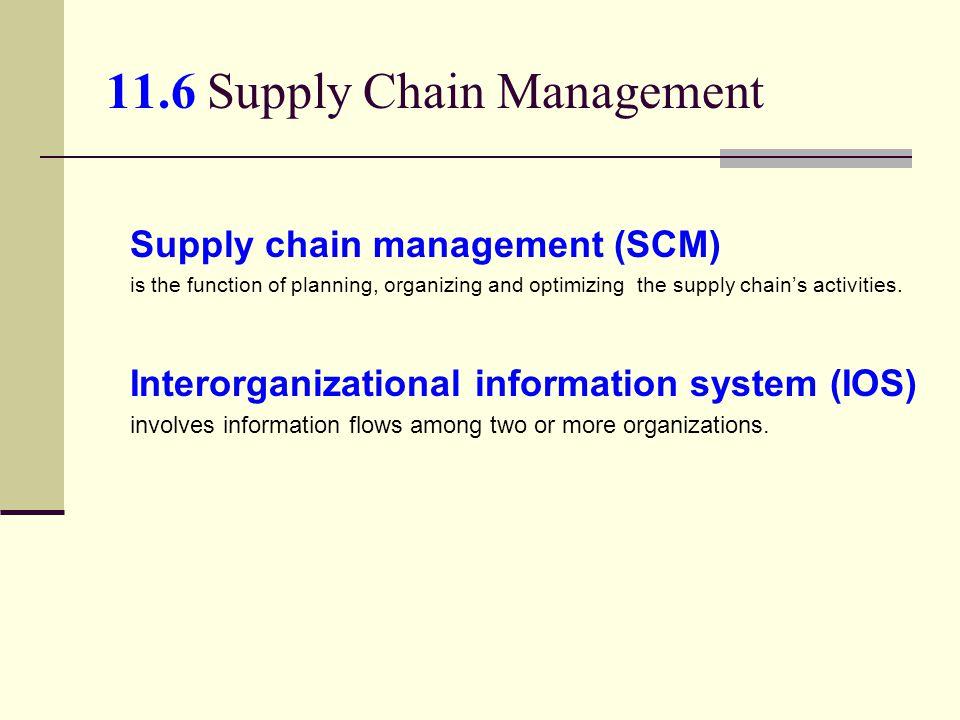 11.6 Supply Chain Management