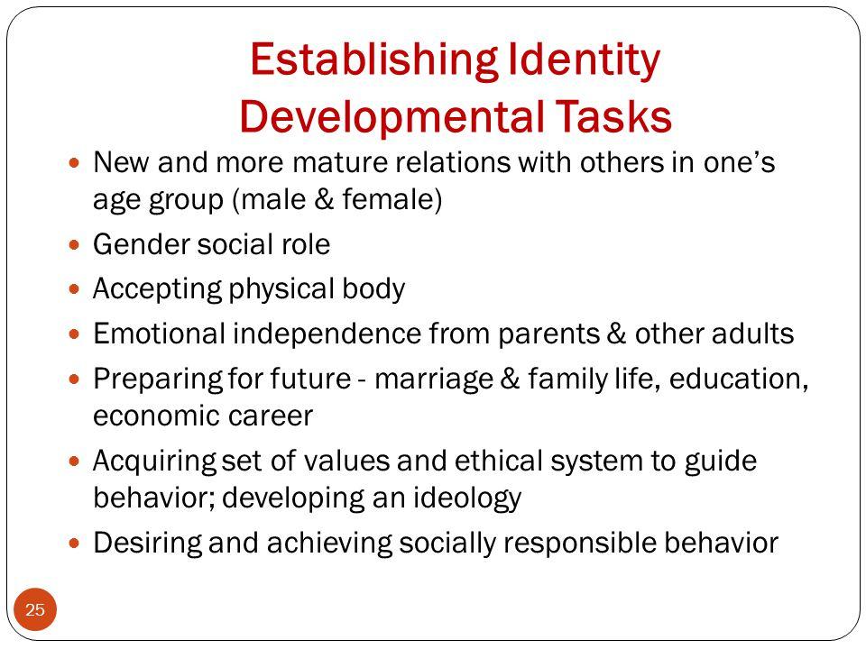 Establishing Identity Developmental Tasks