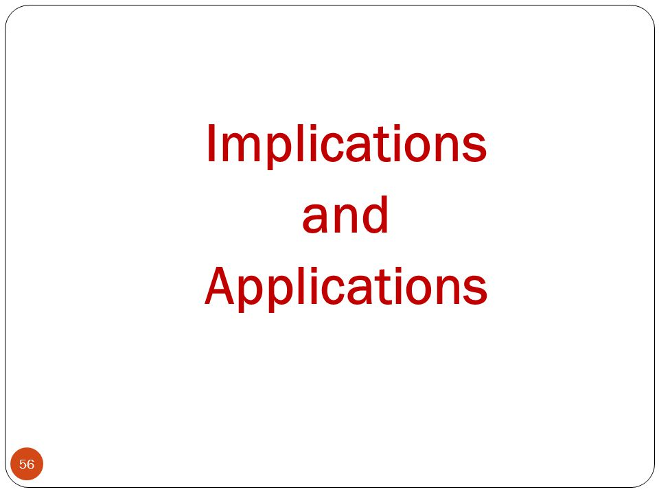 Implications and Applications