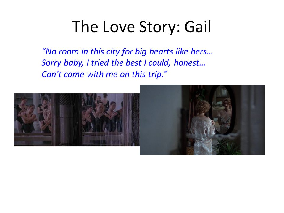 The Love Story: Gail No room in this city for big hearts like hers…