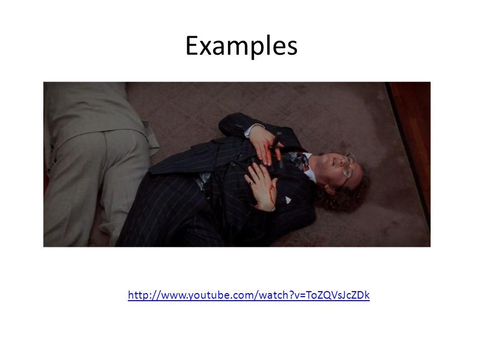 Examples http://www.youtube.com/watch v=ToZQVsJcZDk