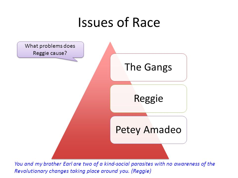 What problems does Reggie cause
