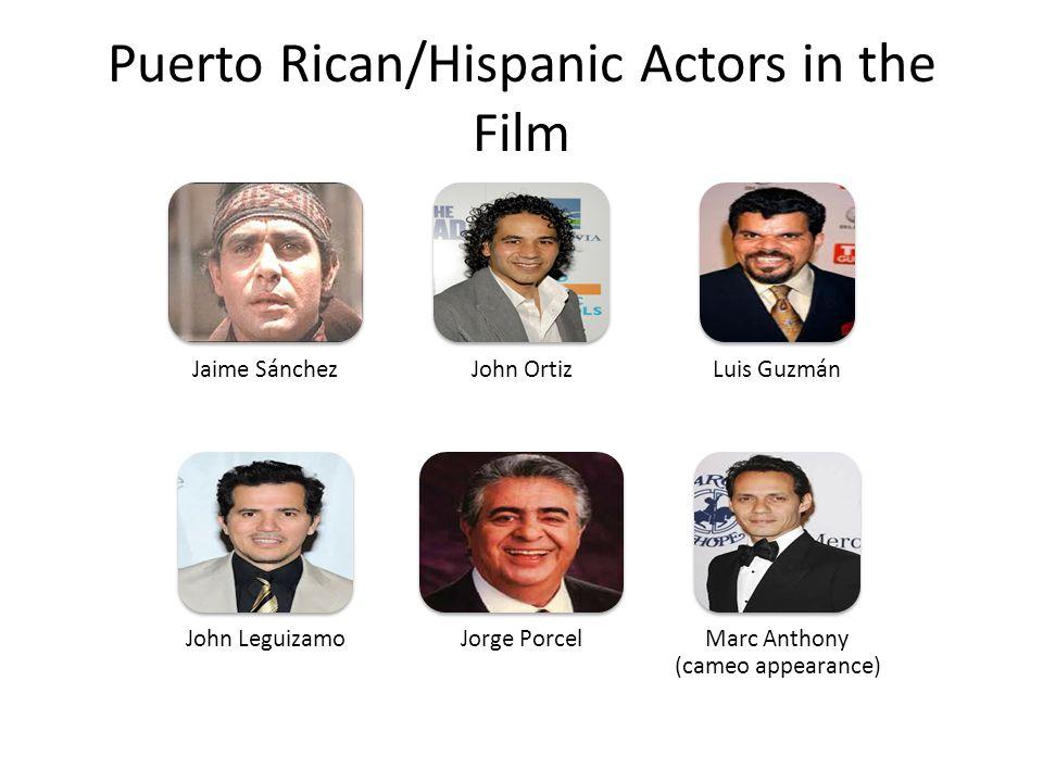 Puerto Rican/Hispanic Actors in the Film
