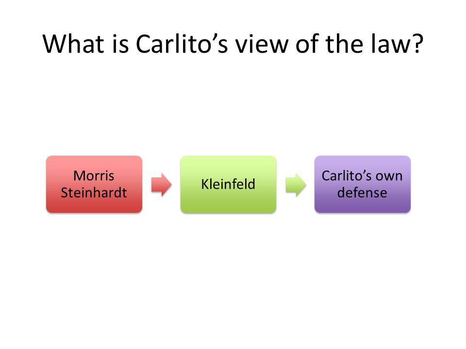 What is Carlito's view of the law