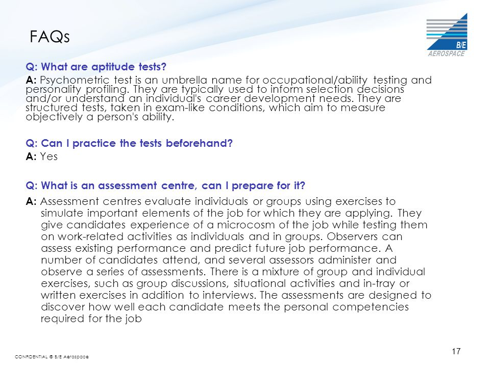 FAQs Q: What are aptitude tests