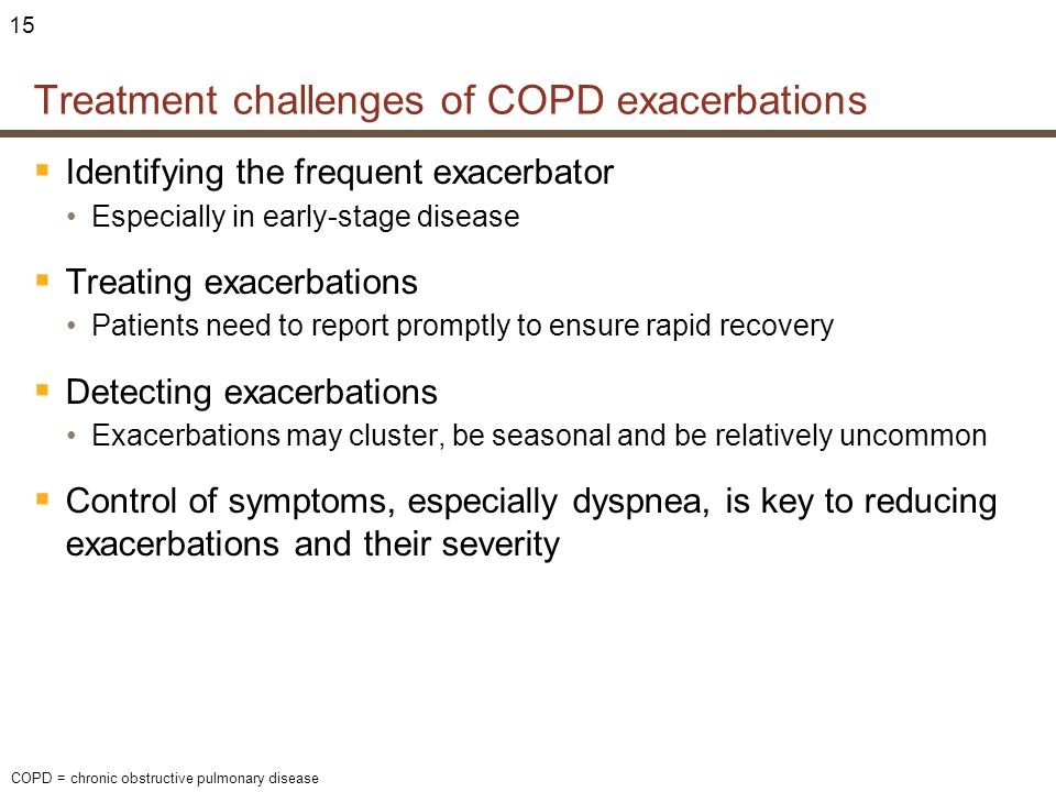 Treatment challenges of COPD exacerbations