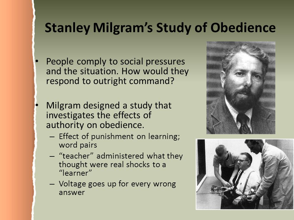 Stanley Milgram's Study of Obedience