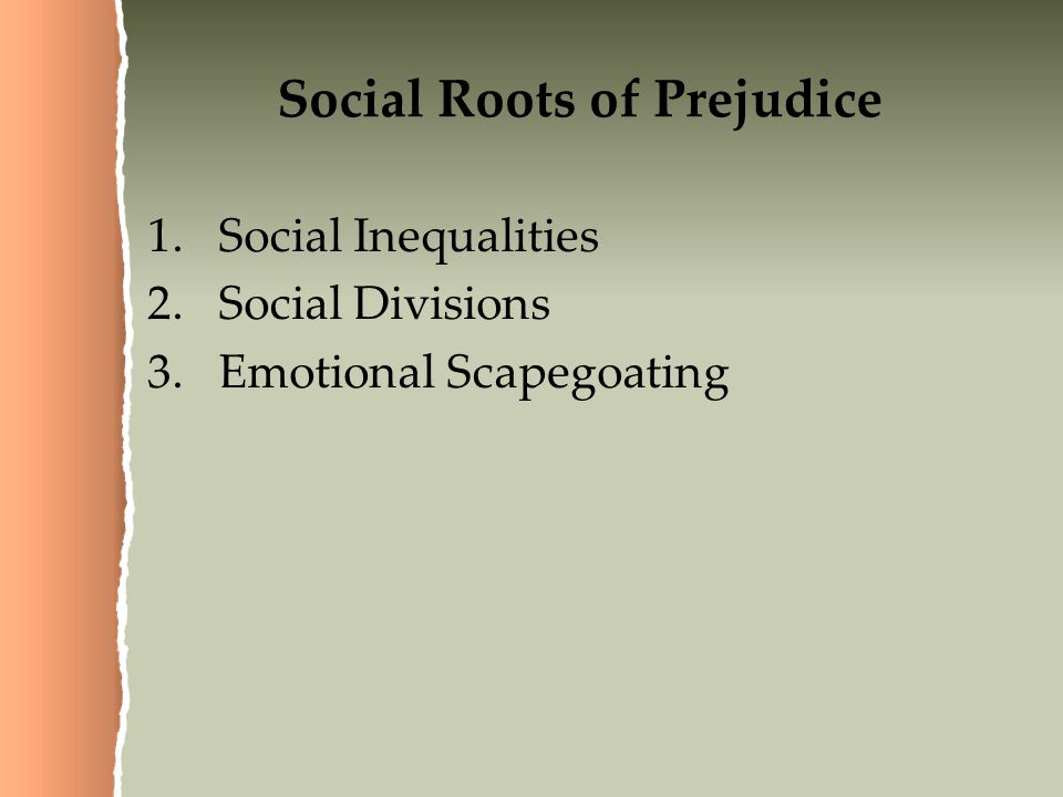 Social Roots of Prejudice
