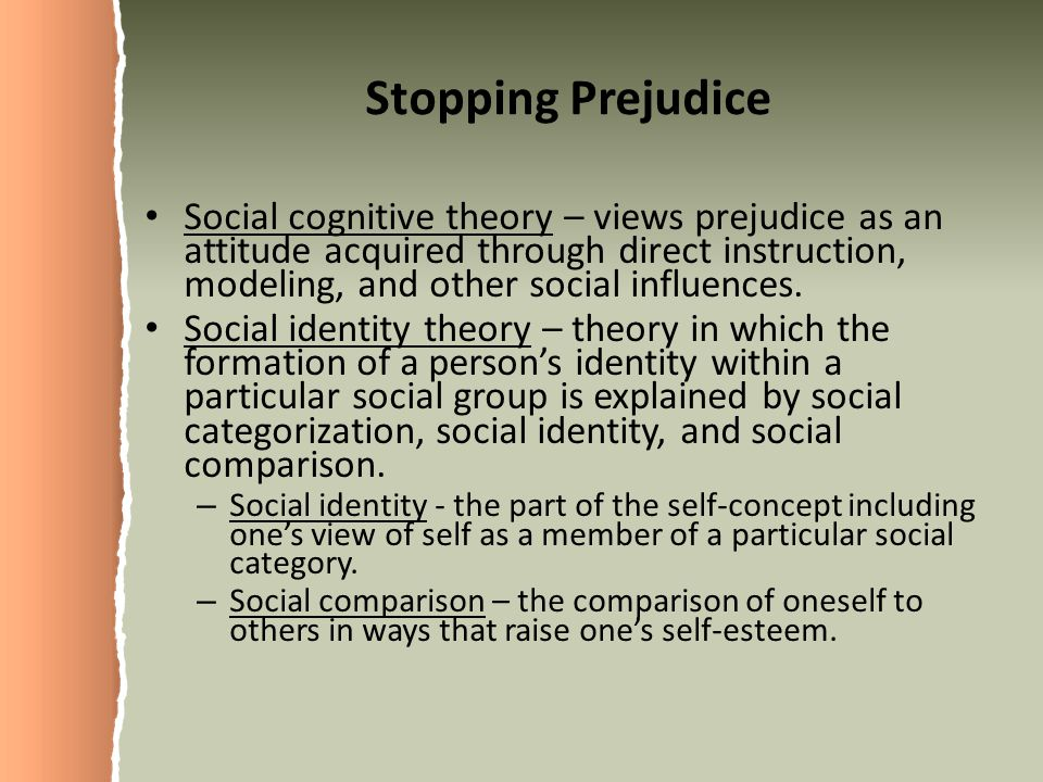 Stopping Prejudice