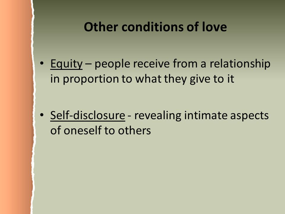 Other conditions of love