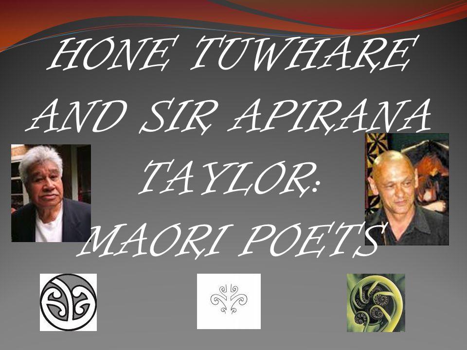 HONE TUWHARE AND SIR APIRANA TAYLOR: