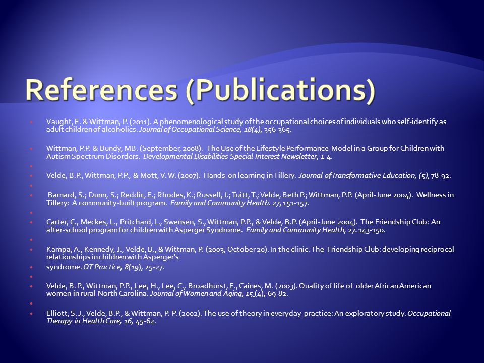 References (Publications)