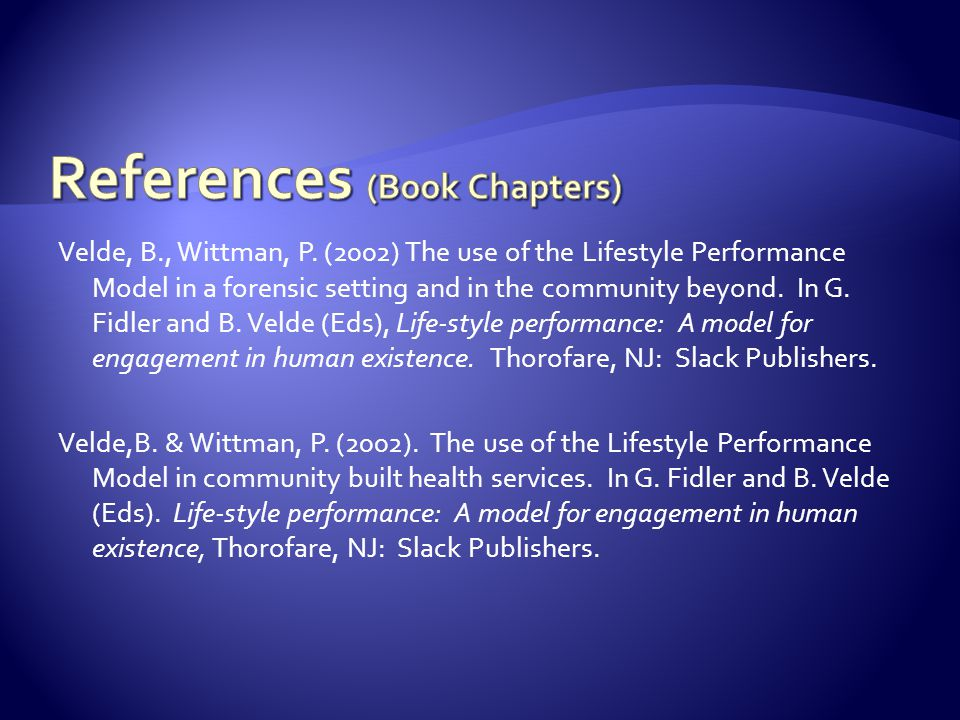 References (Book Chapters)