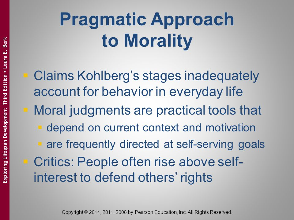 Pragmatic Approach to Morality