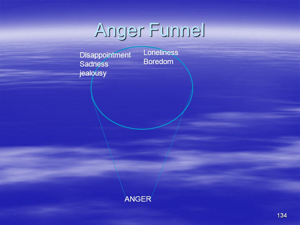 Anger Funnel Loneliness Boredom Disappointment Sadness jealousy ANGER