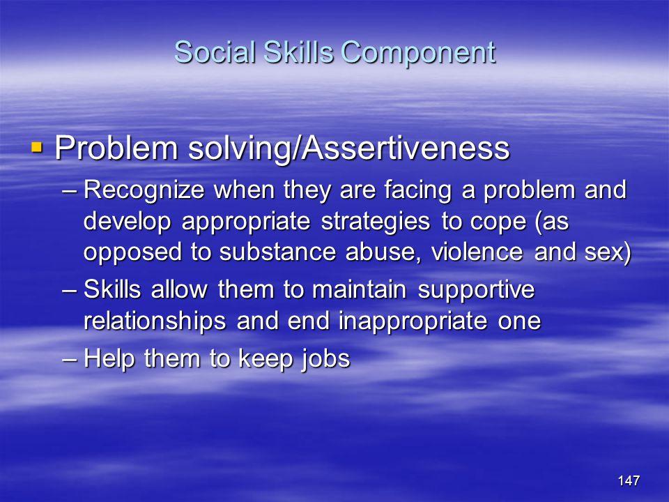 Social Skills Component