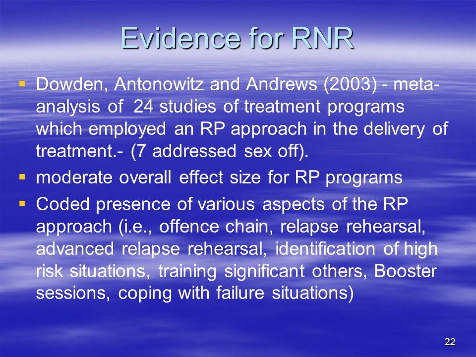Evidence for RNR
