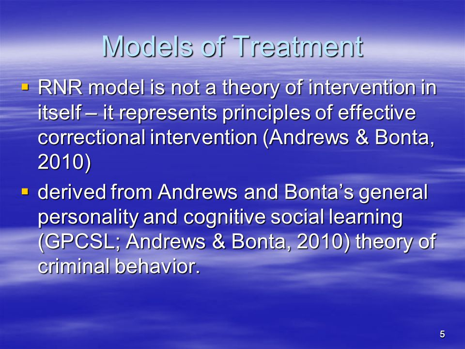 Models of Treatment
