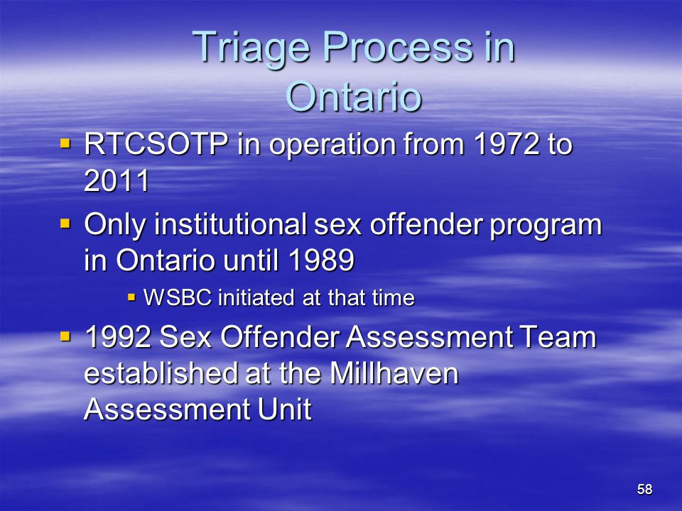 Triage Process in Ontario