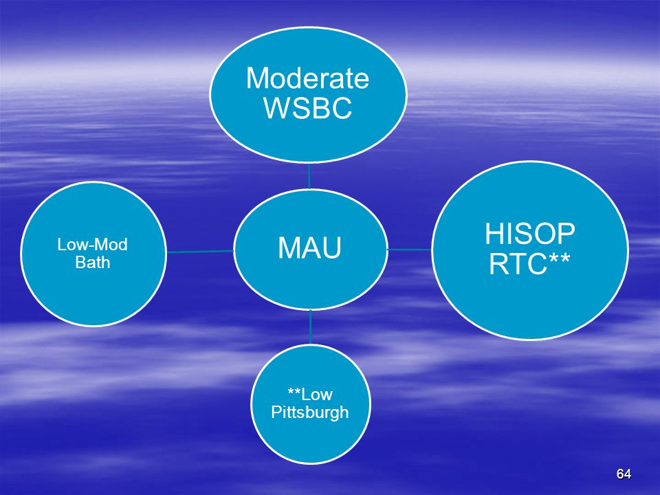 Moderate WSBC HISOP RTC** MAU