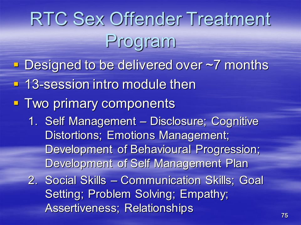 RTC Sex Offender Treatment Program