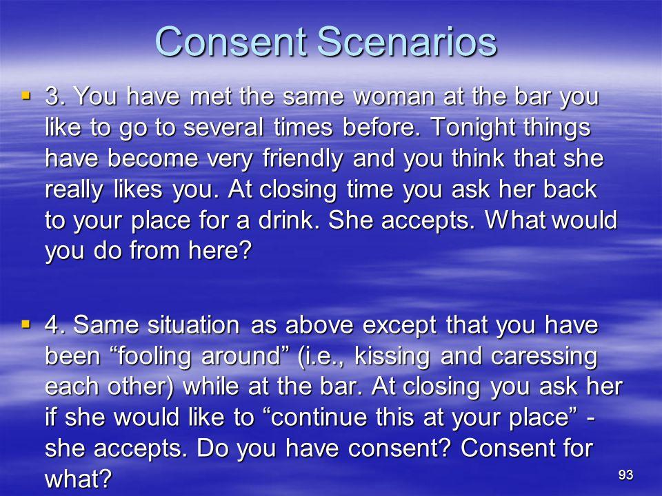 Consent Scenarios