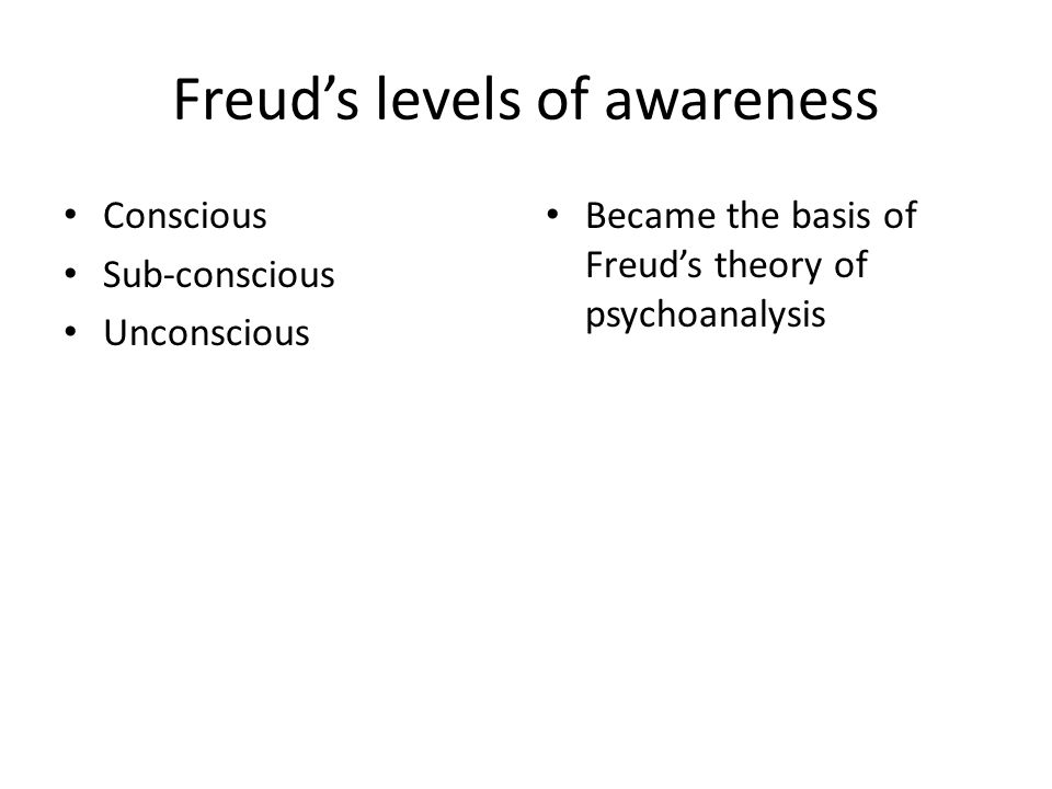 Freud's levels of awareness