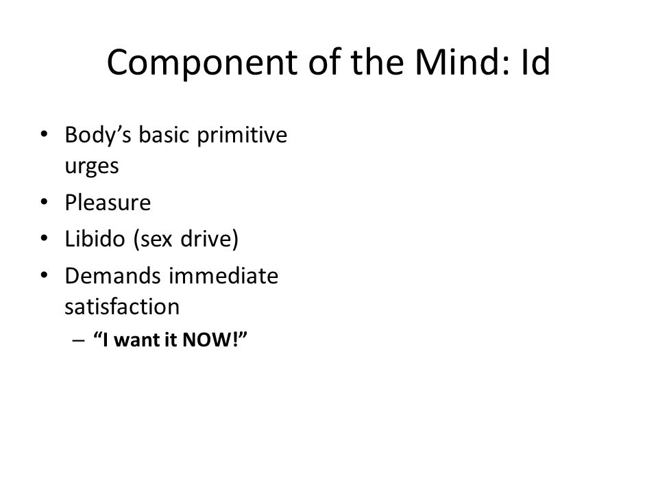 Component of the Mind: Id