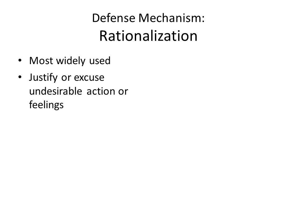 Defense Mechanism: Rationalization