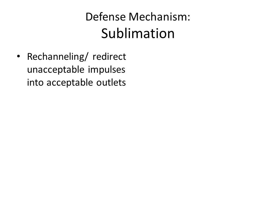 Defense Mechanism: Sublimation